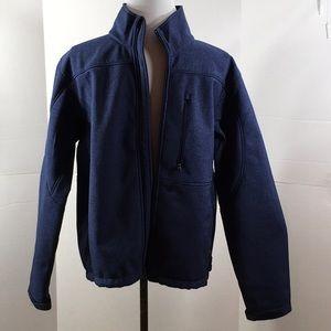 Kirkland blue zip front jacket